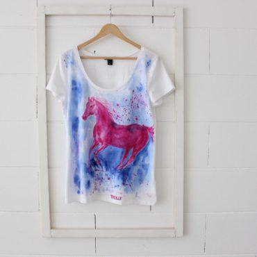 Pink Horse Thelli Art shirt